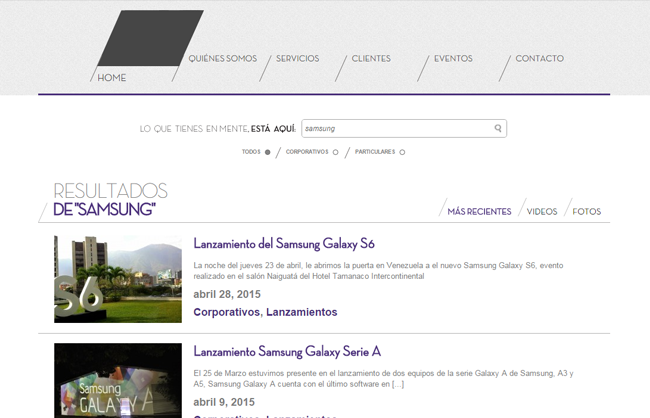 Super Eventos - Search results